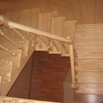 как выглядит лестница из древесины сосны