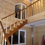 как выглядит лестница из лиственницы