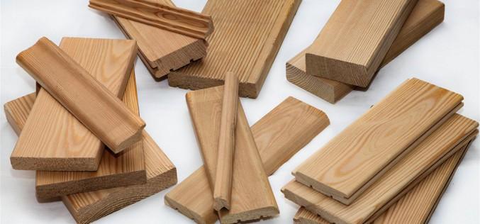 как выглядят погонажные изделия из лиственницы