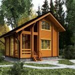 проект дома из круглого леса №1