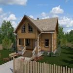 проект дома из круглого леса №2