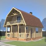 проект дома из круглого леса №3