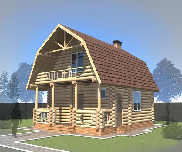 Строительство домов из кругляка