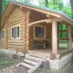 жилой дом из круглого леса №2