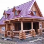 жилой дом из круглого леса №3