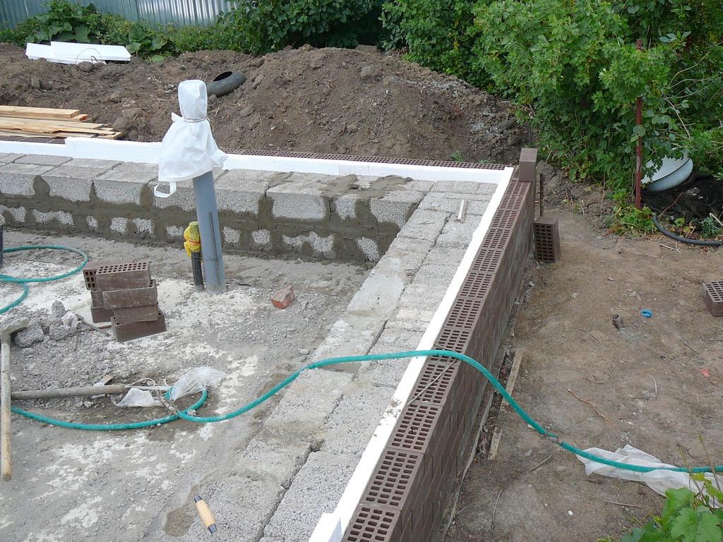 Фундамент своими руками под керамзитобетонные блоки 53