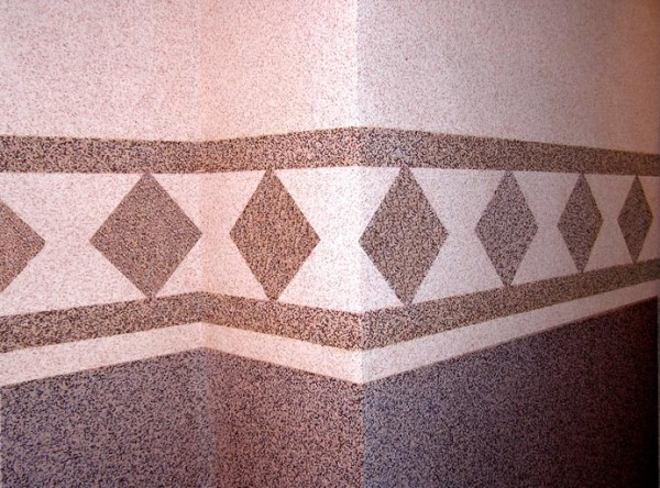 Дизайн фасада из каменной мозаичной штукатурки (фото)