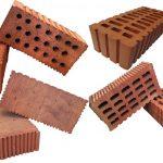 Красный керамический кирпич трех типоразмеров: одинарный, полуторный, двойной