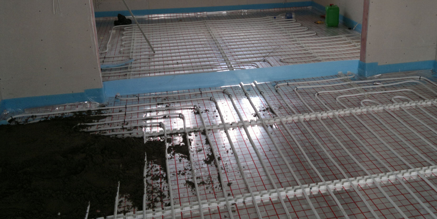 Стяжка для водяної теплої підлоги: суха, яка товщина потрібн.
