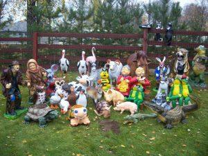 садовые скульпутры раствор цена