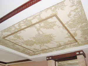 сграфитто нанесение потолок