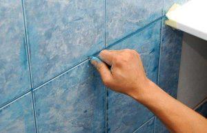 стоимость затирки швов плитки в ванной