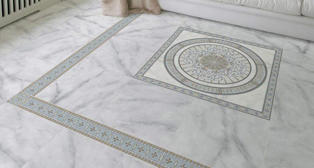 Серая напольная плитка из керамогранита