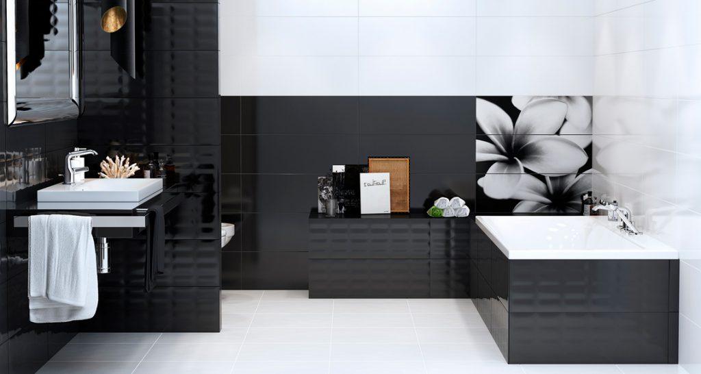 Черно-белая керамическая плитка