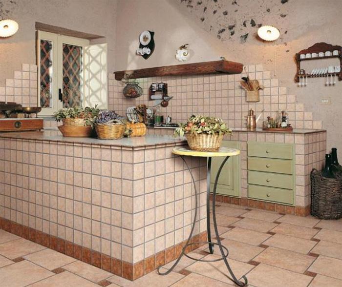 Дизайн керамической плитки для кухни (фото)