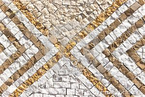 Каменная мозаика стена