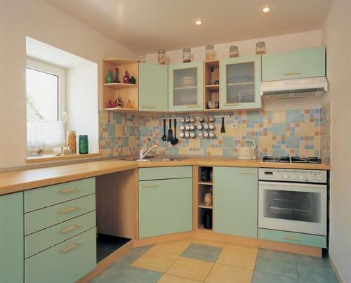 Керамическая плитка на пол для кухни фартук