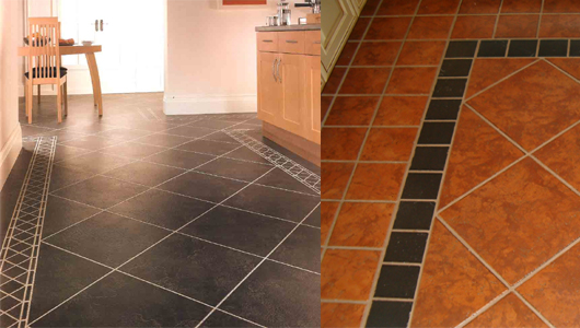Керамическая плитка на пол для кухни