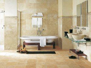 Современная ванная комната в кафеле