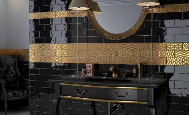 керамическая плитка черная