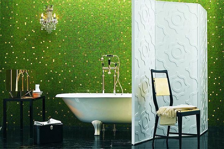 мозаика для ванной в интерьере